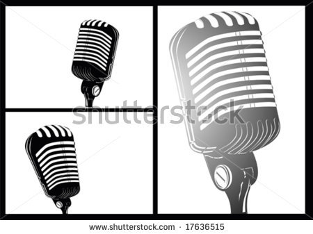 Vintage Microphone Black And White | Clipart Panda - Free ... Vintage Microphone Black And White