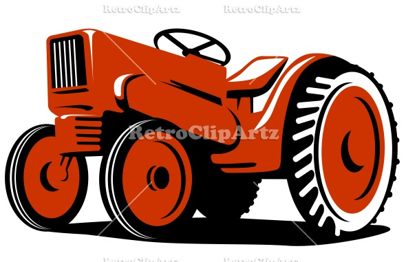 vintage tractor clipart - photo #32