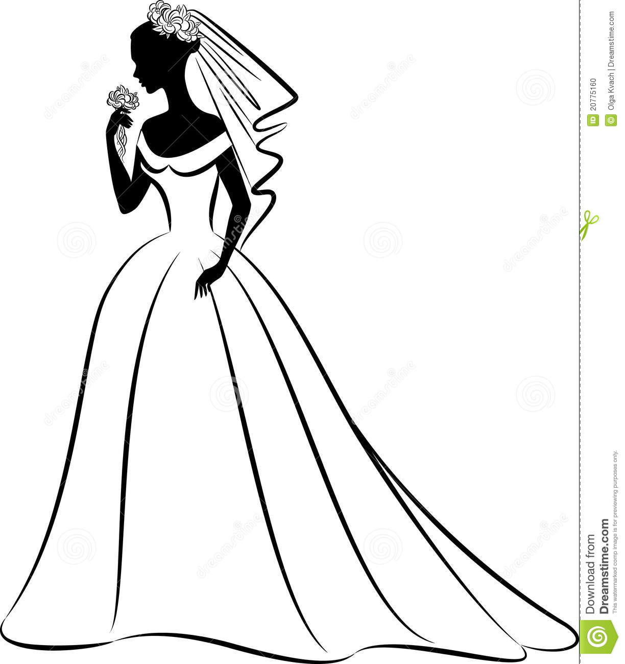 Wedding Gown Clip Art: Bridesmaid Dress Silhouette Clip Art