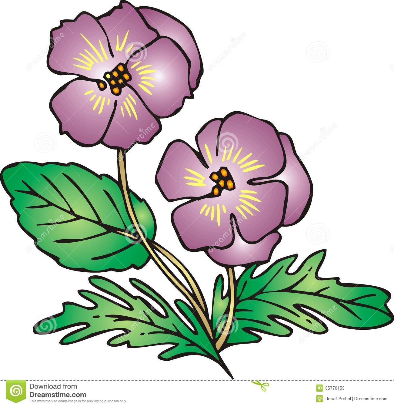 Violet flower   Clipart Panda - Free Clipart Images