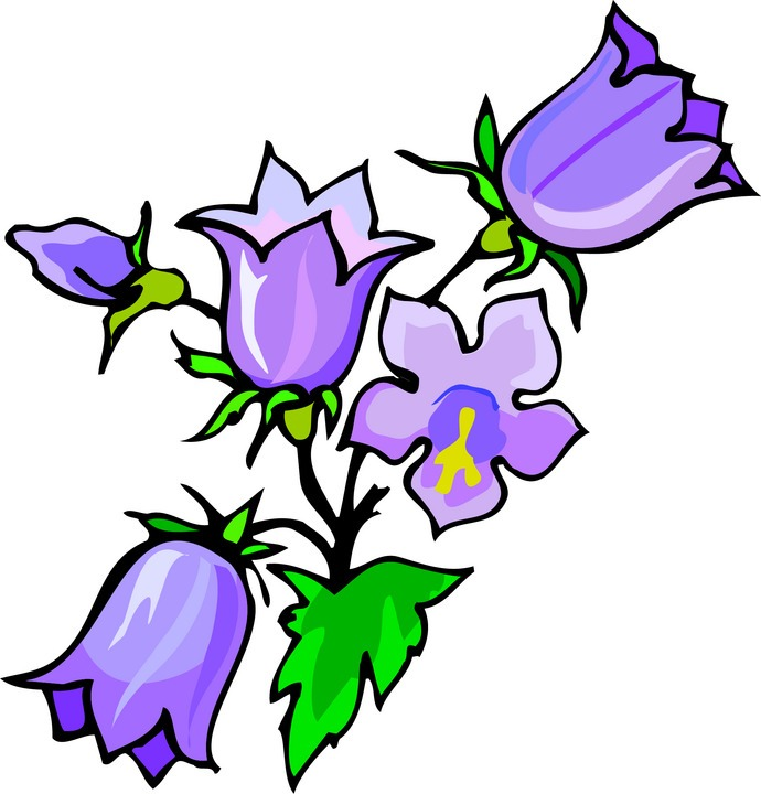 Purple Violet Flower Clipart Violet Flower Clipart