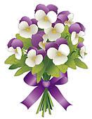 Violet Flower Clipart