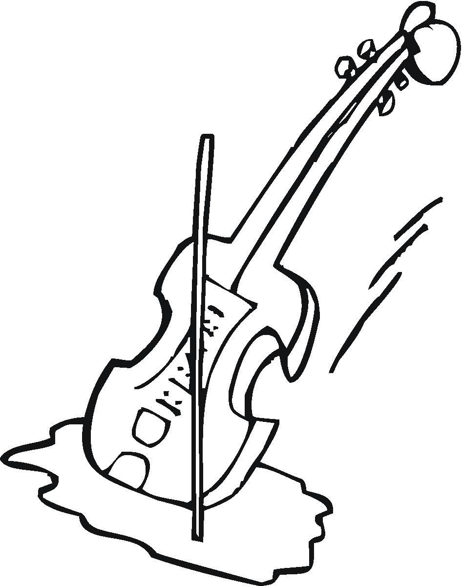 White Violin Drawing Violin Clipart Black And