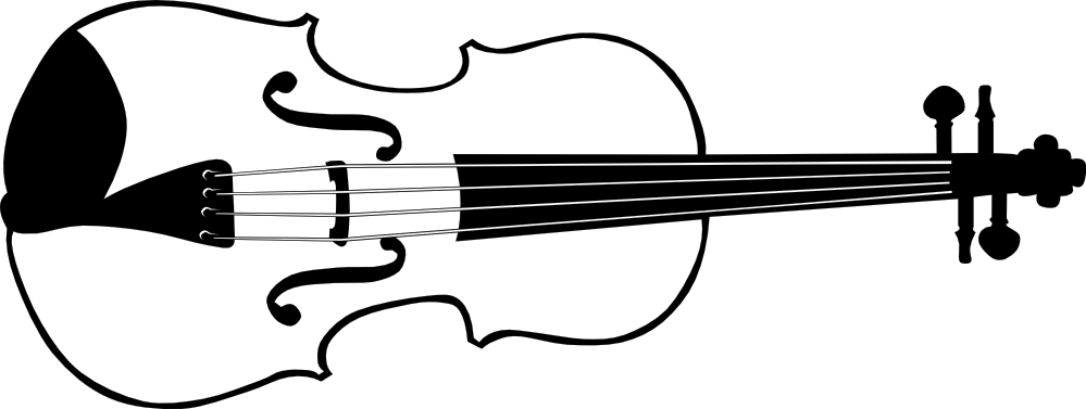 Line Drawing Violin : Violin clipart black and white panda free