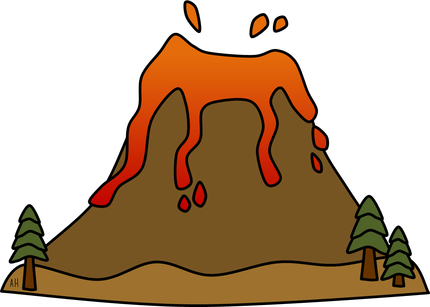 Volcano Clip Art Free | Clipart Panda - Free Clipart Images