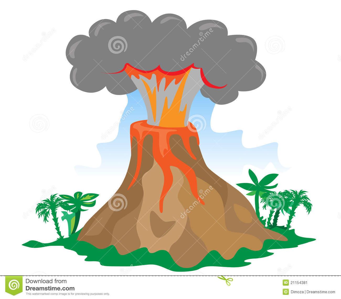 free clipart volcano erupting - photo #12