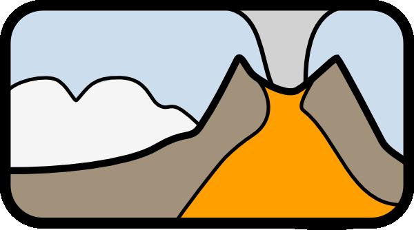 free clipart volcano erupting - photo #49