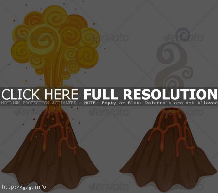volcano clipart