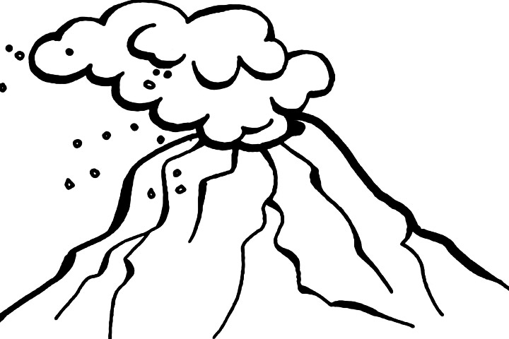 coloring pages volcano - photo #38