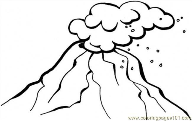 Line Drawing Volcano : Volcano coloring pages clipart panda free images
