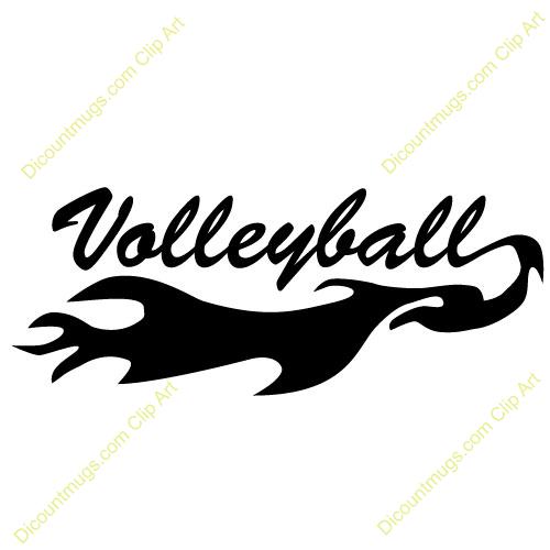 Volleyball logos clip art