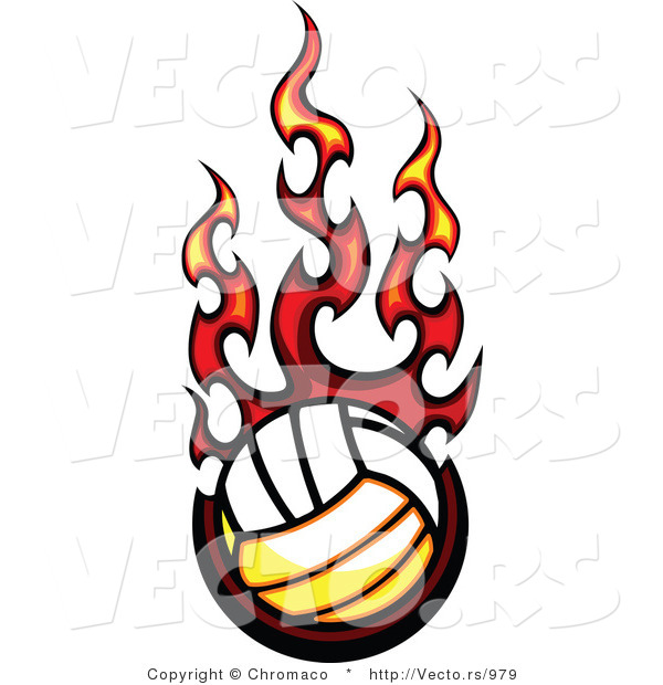 volleyball%20on%20fire%20clipart