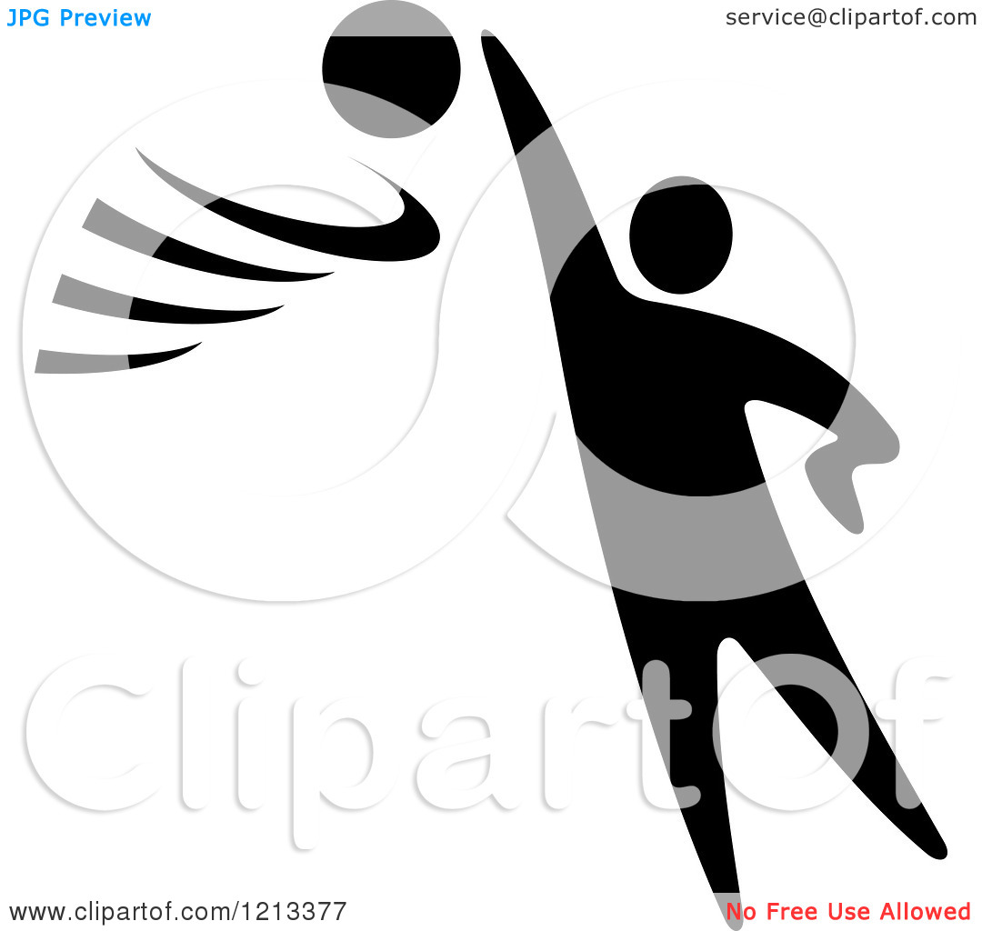 volleyball%20player%20clipart%20black%20and%20white