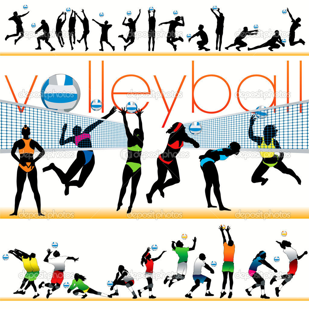 Volleyball Player Spike Silhouette | Clipart Panda - Free Clipart ...