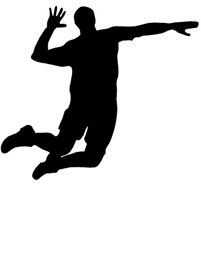 Volleyball Player Spike Silhouette | Clipart Panda - Free ...