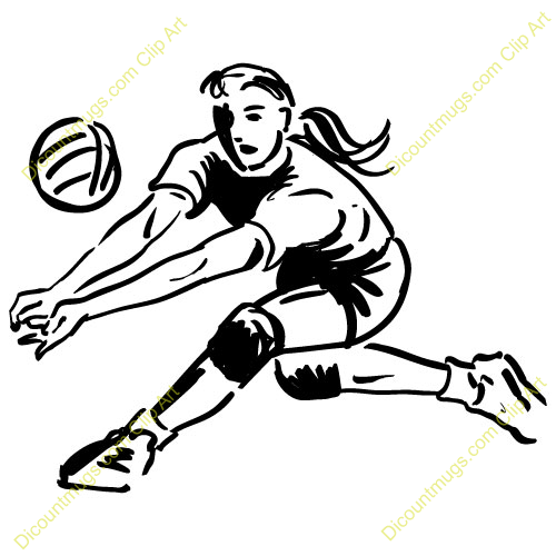 clipart pictures of volleyball - photo #29