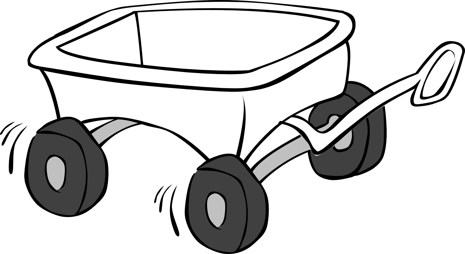 Black White An D Tractor Pulling Wagon : Kids wagon black white clipart panda free images
