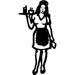 waitress 20clipart  Waiters And Waitresses Clipart