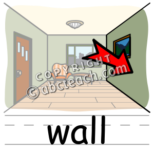 Clip Art: Basic Words: Wall | Clipart Panda - Free Clipart Images