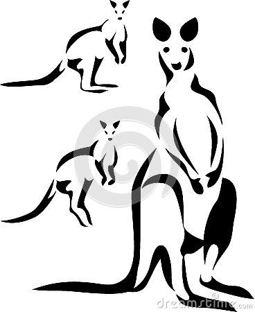 kangaroo clipart black and white clipart panda free clipart images rh clipartpanda com Fish Clip Art Black and White Koala Clip Art Black and White