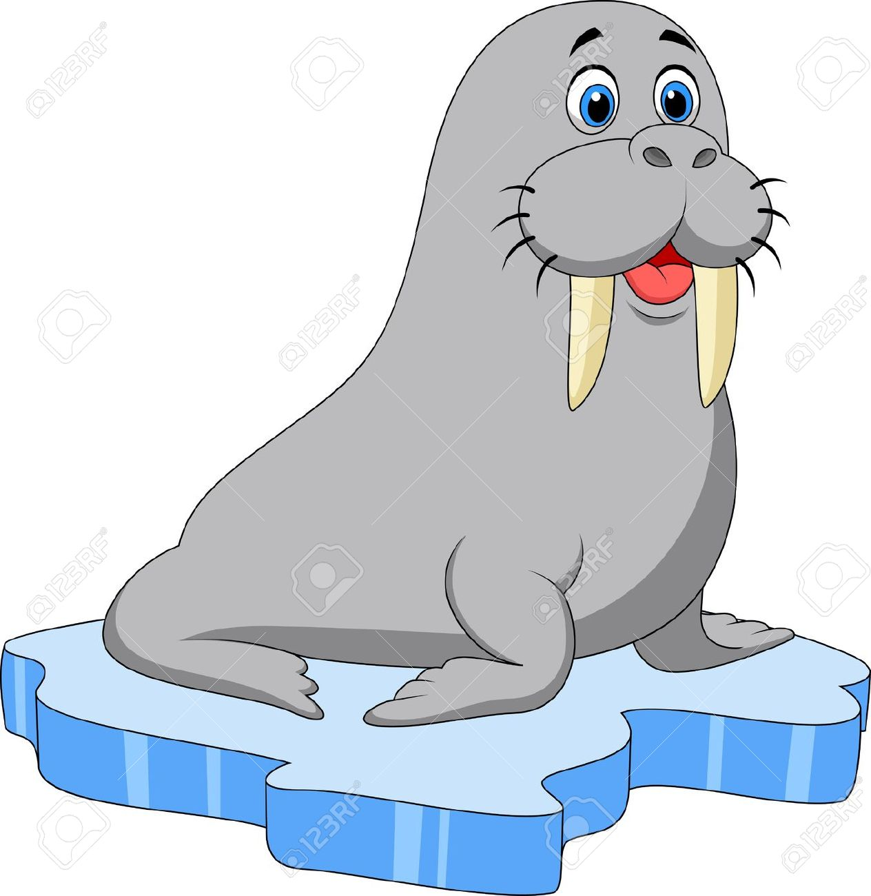 walrus: Cute walrus cartoon on | Clipart Panda - Free ...