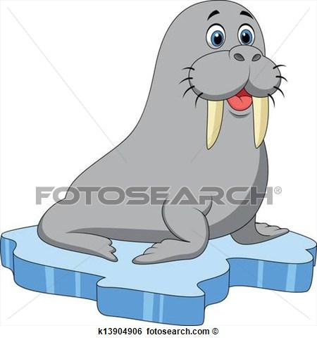Walrus vector clip art  Public domain vectors