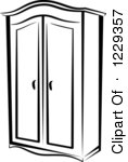 Wardrobe clipart black and white  Clipart Of A Black And White   Clipart Panda - Free Clipart Images