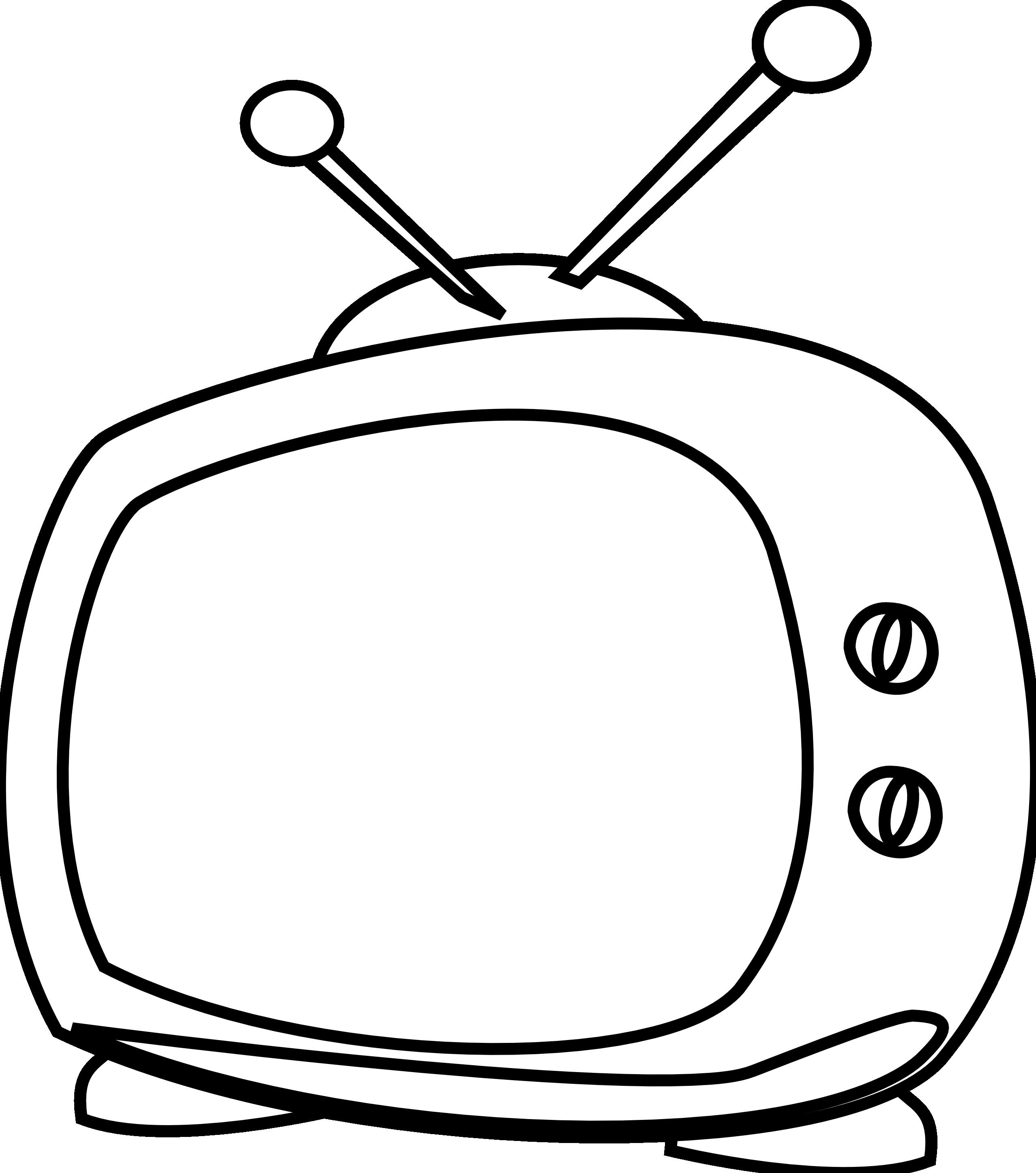 Картинки телевизор раскраска