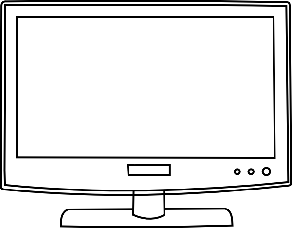 Television Outline Clip Art Clipart Panda Free Clipart Images