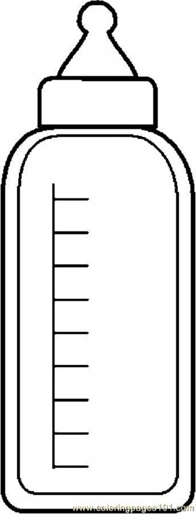 Water Bottle Coloring Page Clipart