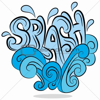 Water Splash Cartoon
