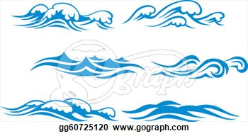 Small Waves Clip Art