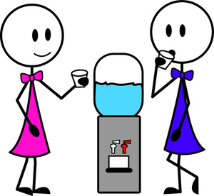 Girl Drinking Water In Water Dispenser Clip Art