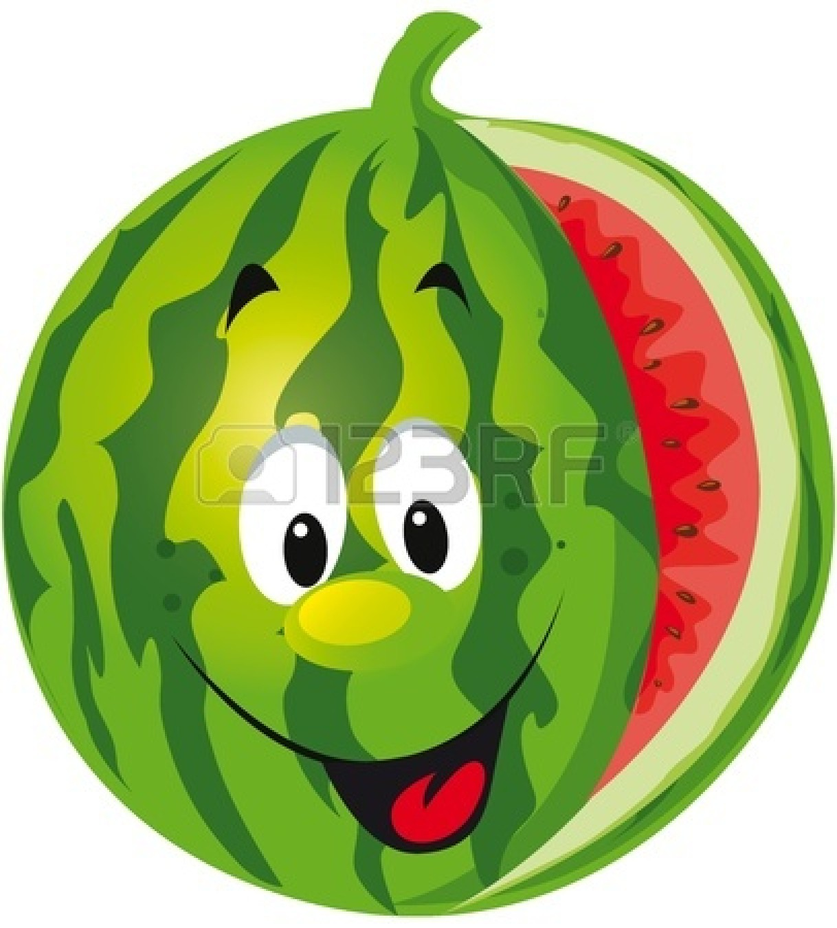 Watermelon Cartoon Images Watermelon Back...