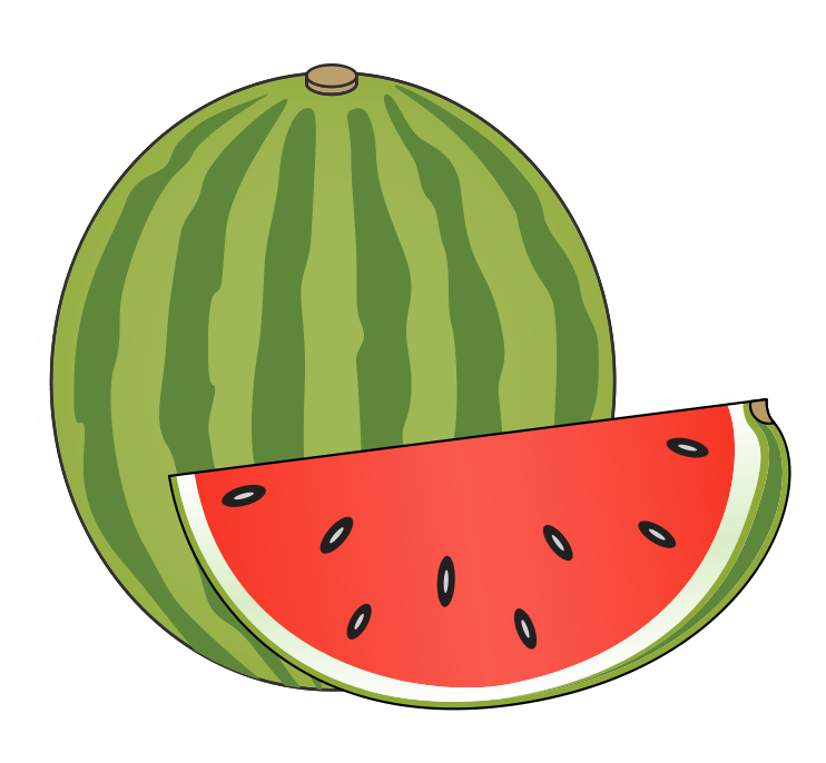 Watermelon Clip Art Black And White | Clipart Panda - Free
