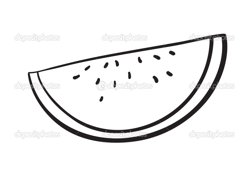 watermelon 20slice 20clipart 20black 20and 20whiteWatermelon Slice Outline