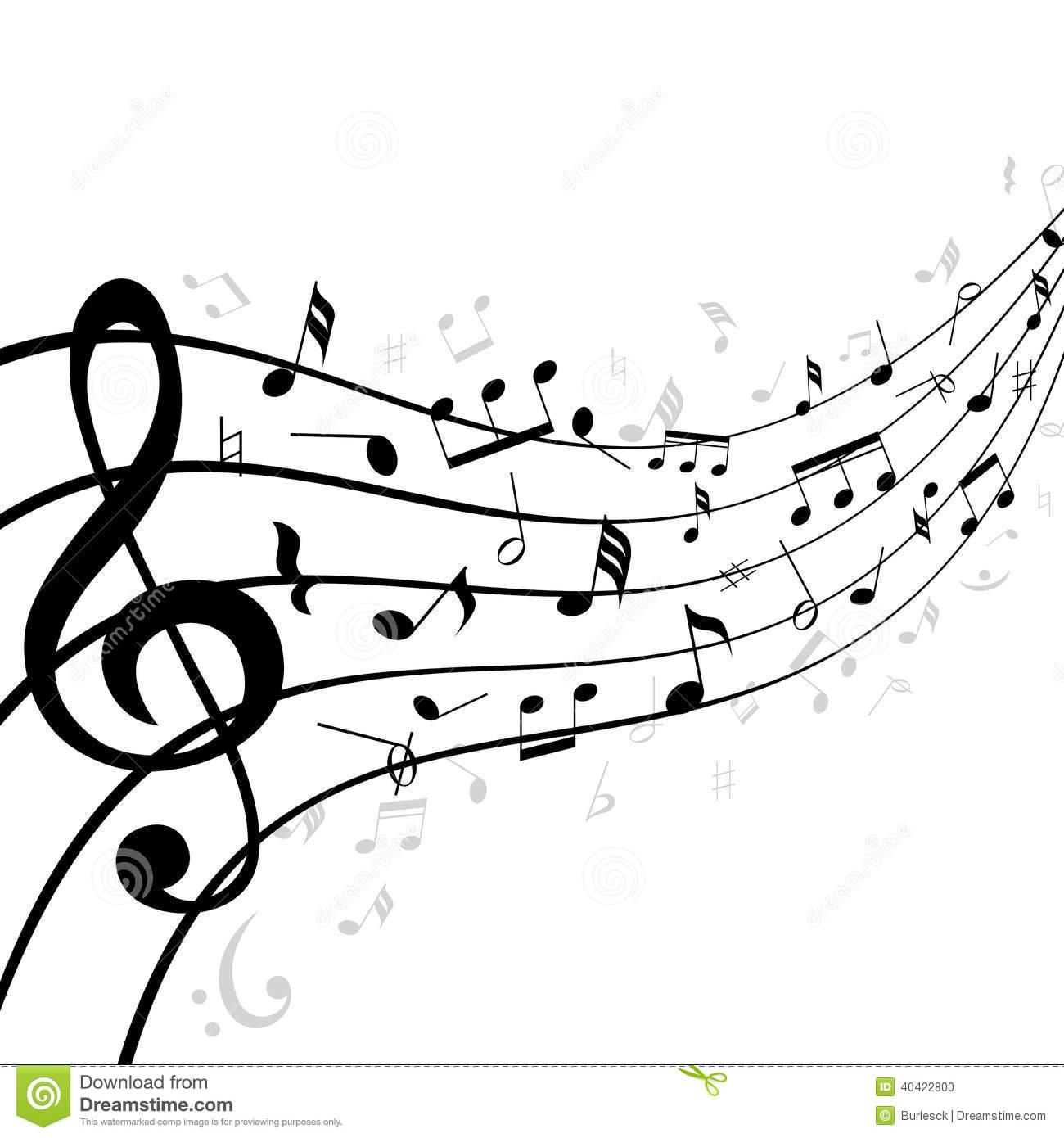 wavy music staff clipart