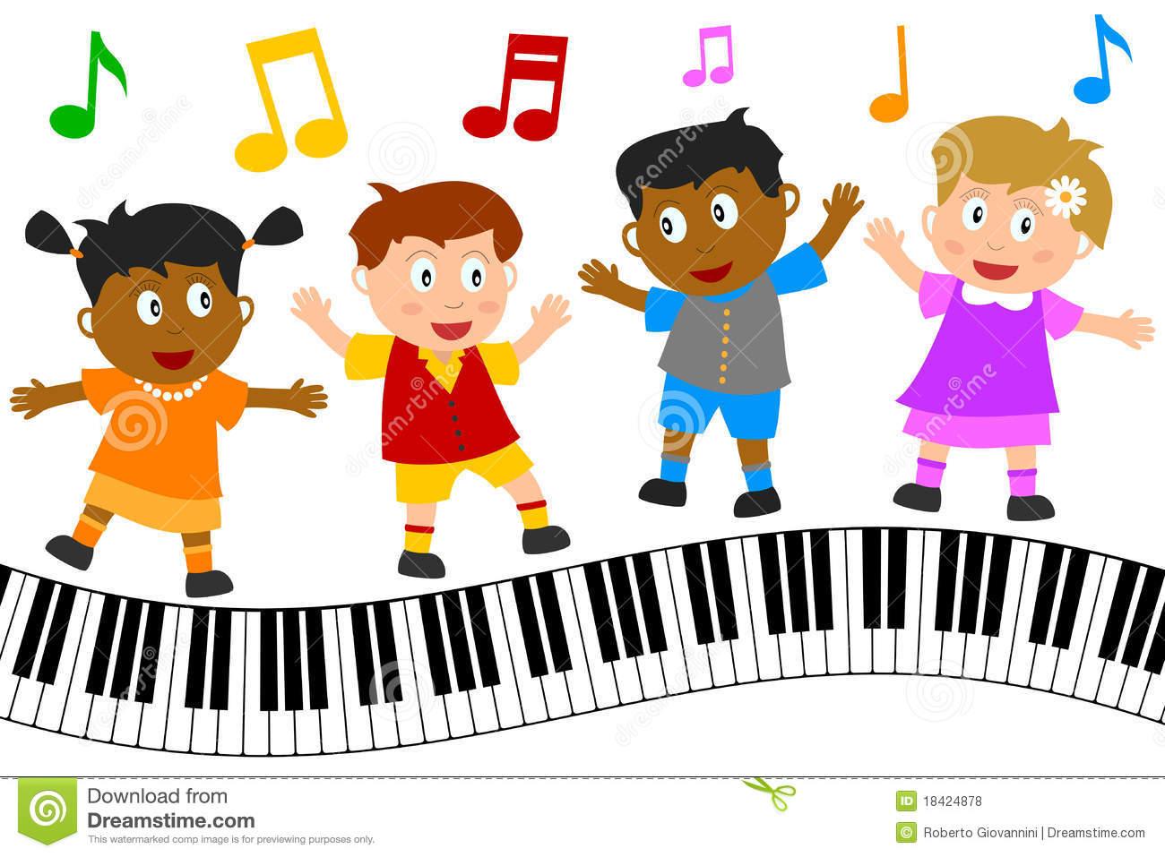 Music kid. Clip art for kids