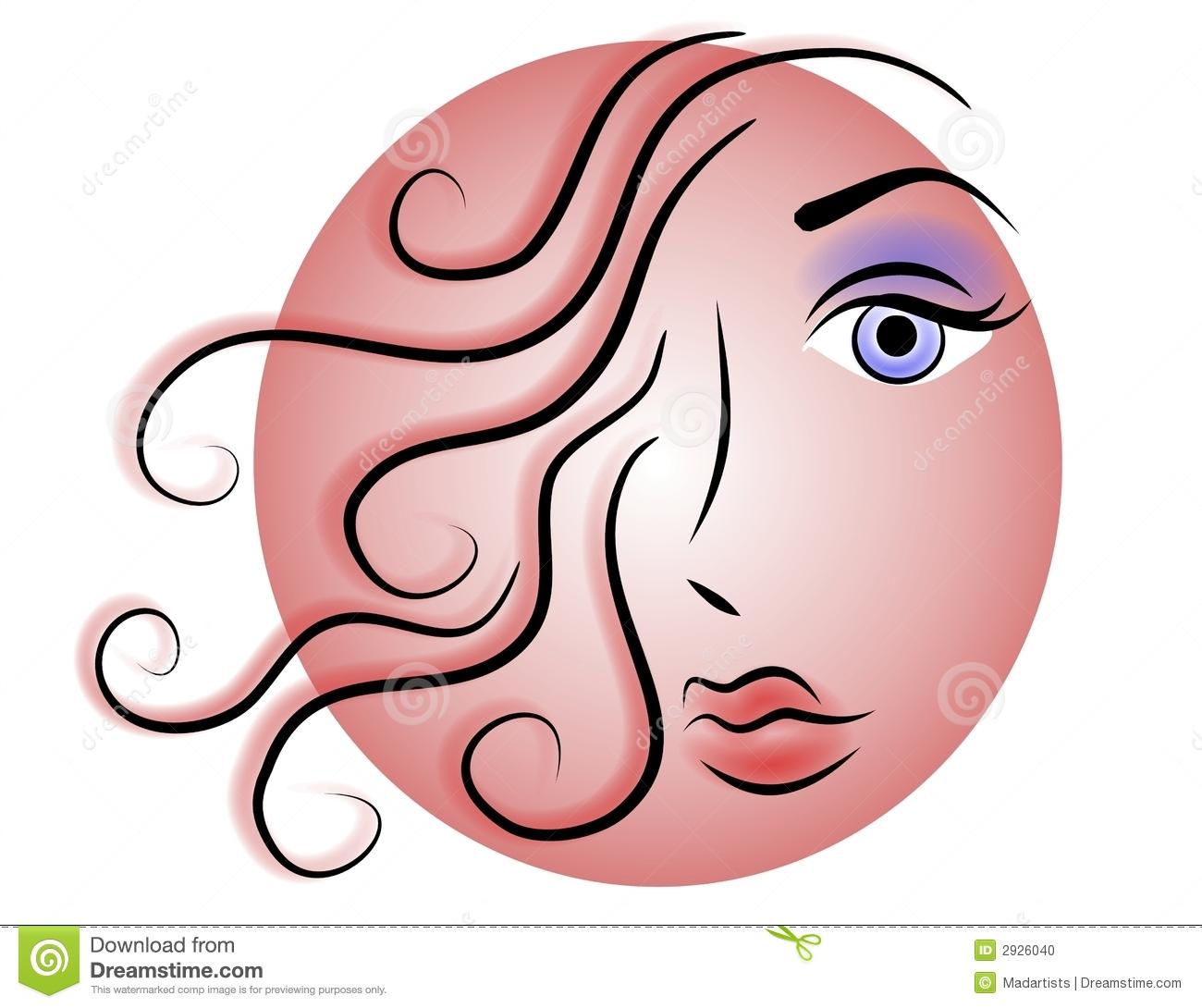 Flowing Hair Cl... Art Clipart Logo