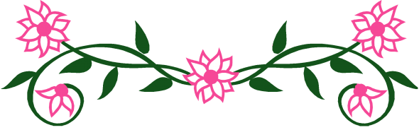 Pink flower border clipart panda free clipart images clipart info mightylinksfo Images