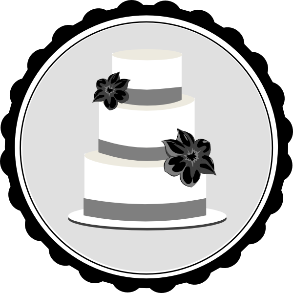 Black And White Wedding Cake Clip Art | Clipart Panda ...