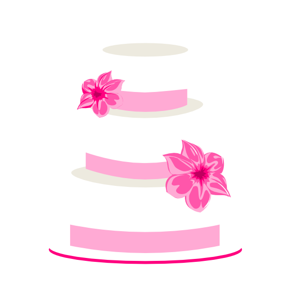 Wedding cake topper clipart