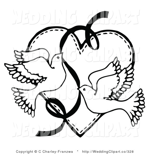 Wedding Card Line Art Designs : Wedding clipart free black and white panda