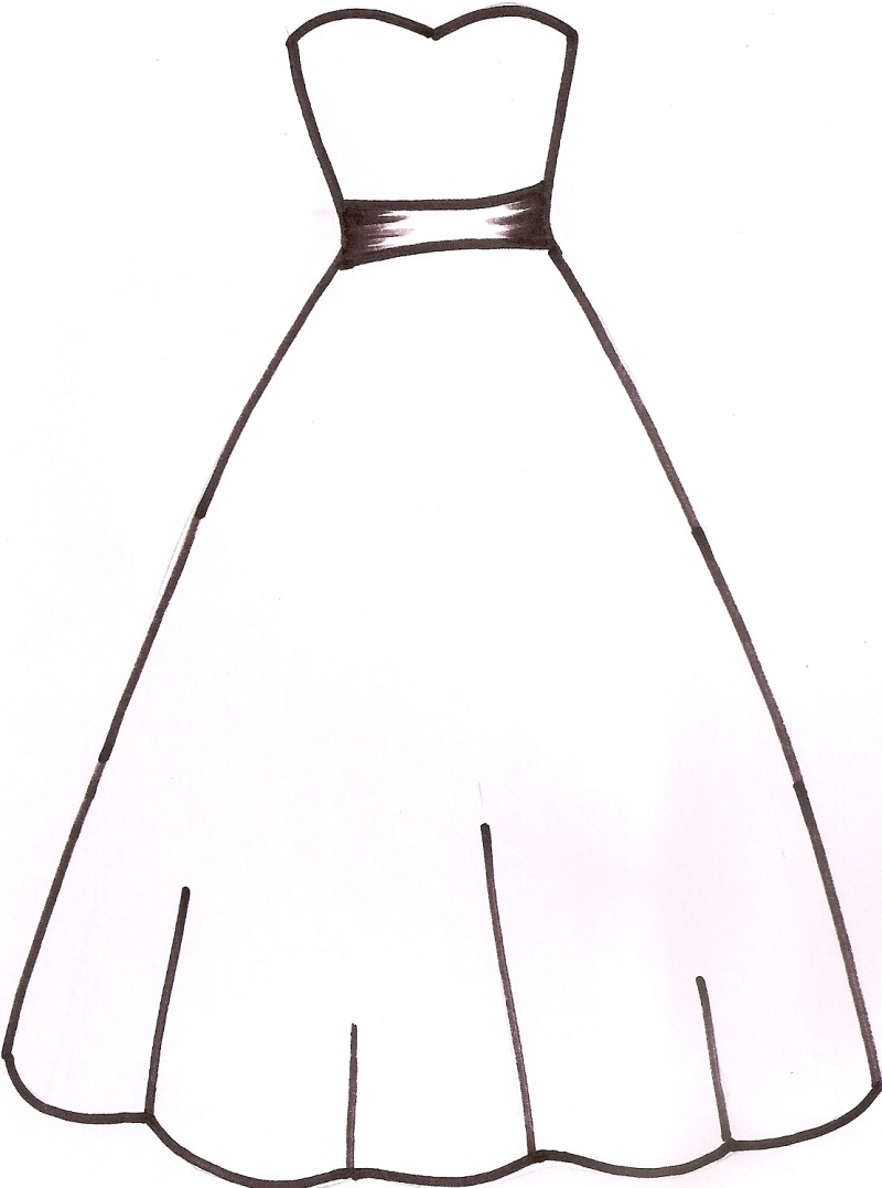 Wedding dress outline clipart panda free clipart images for Can i make my own wedding dress