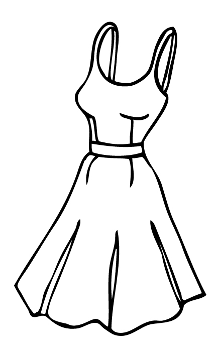 Cartoon Dress Outline Clipart Panda Free Clipart Images