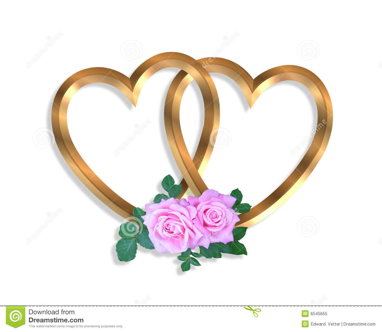 Red Wedding Hearts Linked gold | Clipart Panda - Free ...