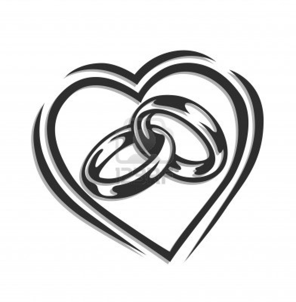 wedding20ring20clipart - Black And White Wedding Rings