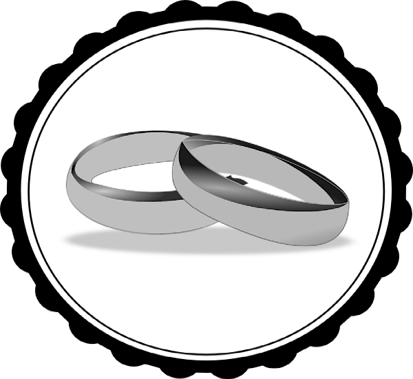 wedding20ring20clipart20png - Black And White Wedding Rings
