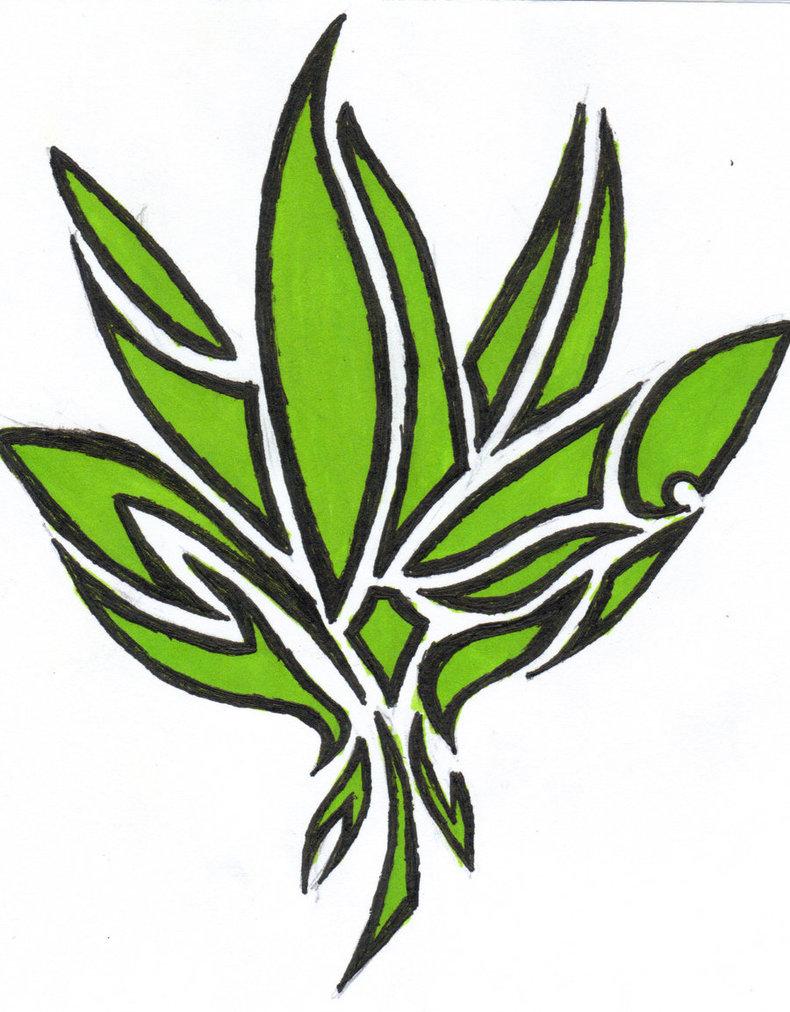 Pot Leaf Tattoo Stencil Weed Symbol Tattoo | C...