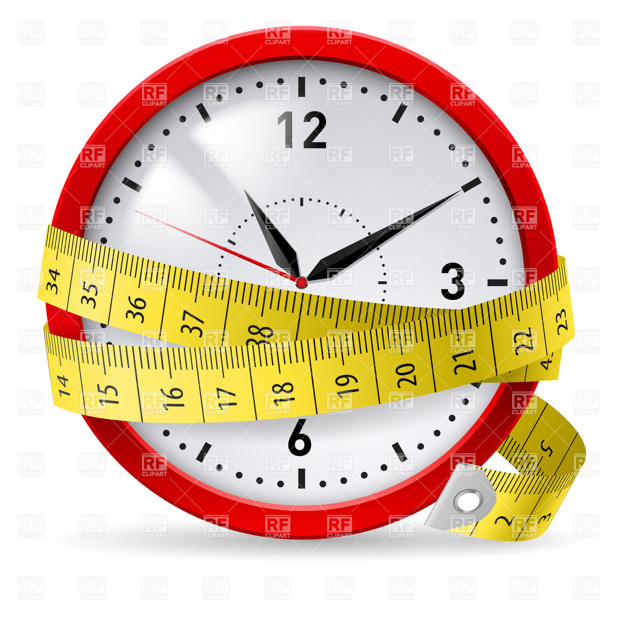 Vector of tape measure border a page border created from a rag tape - Weight 20loss 20tape 20measure 20clipart